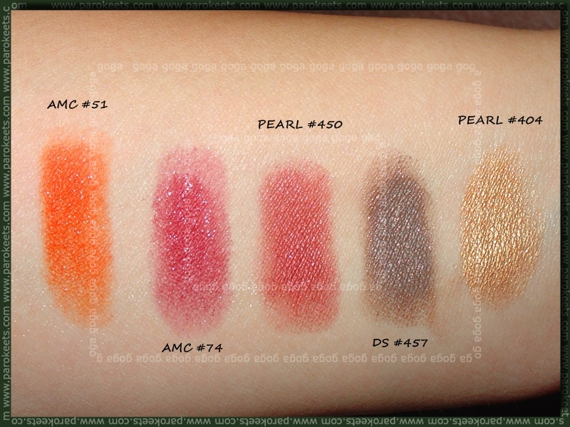 Inglot palette swatch - second row
