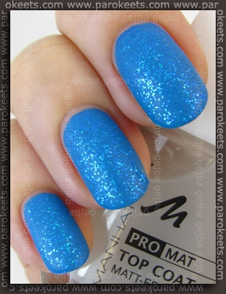 Manhattan Do You Twitter + Gabrini 377 + Manhattan Pro Mat Top Coat swatch