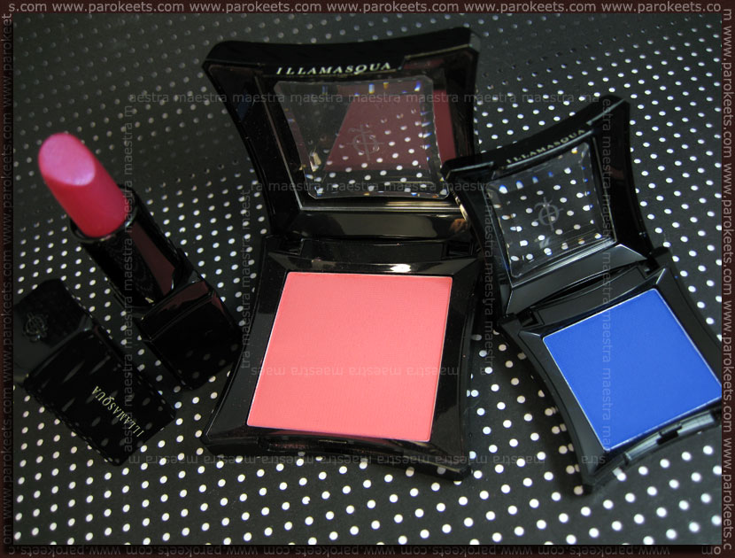 USA 2011 Haul: Illamasqua - eyeshadow Sadist, lipstick Atomic, blush Hussy