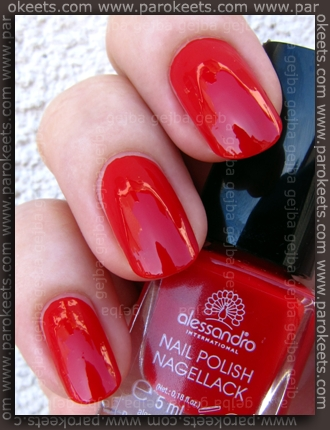 Alessandro Beach Beauty LE - Bloody Mary swatch by Parokeets