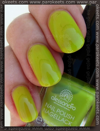 Alessandro Beach Beauty LE - Mojito Mint swatch by Parokeets