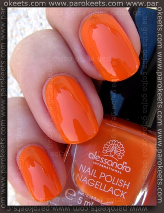 Alessandro Beach Beauty LE - Tequila Sunrise swatch by Parokeets