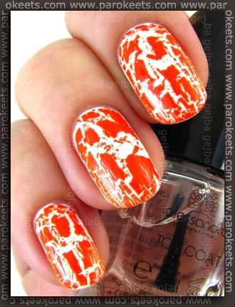 Alessandro Go Magic! Wild Crash orange set + top coat swatch