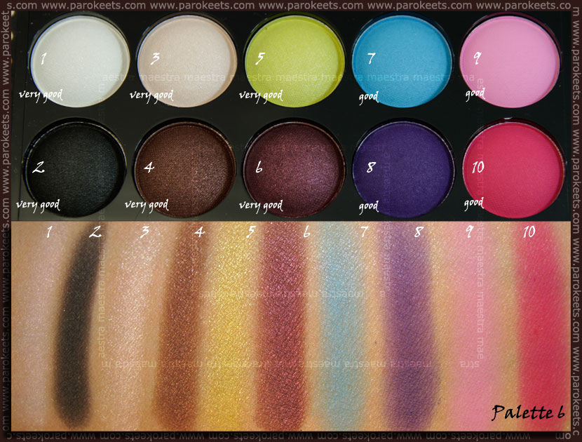Swatch: Beauty UK eye shadow collection: No. 6 Day & Night eyeshadow palette