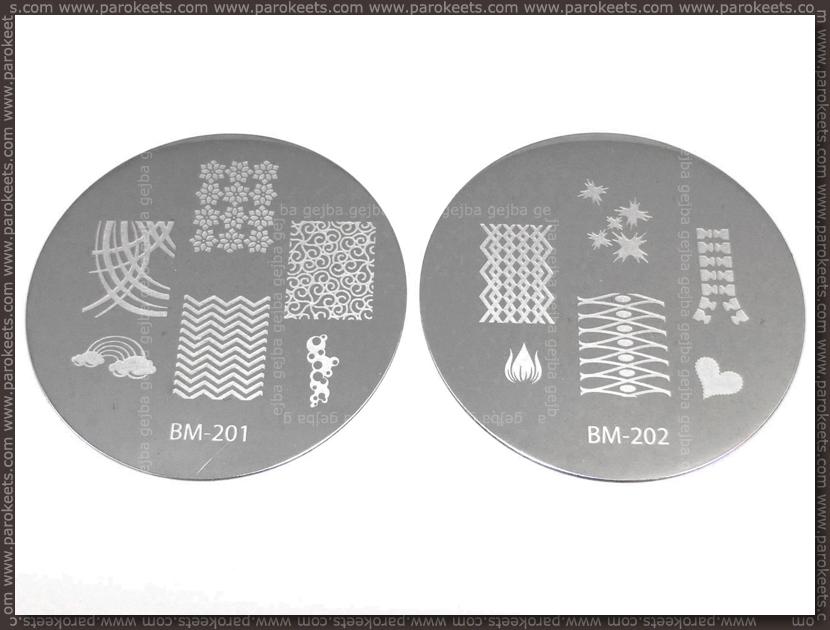 Bundle Monster Image Plate - 201, 202