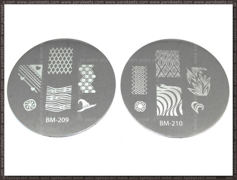 Bundle Monster Image Plate - 209, 210