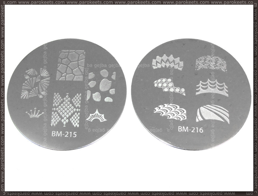 Bundle Monster Image Plate - 215, 216