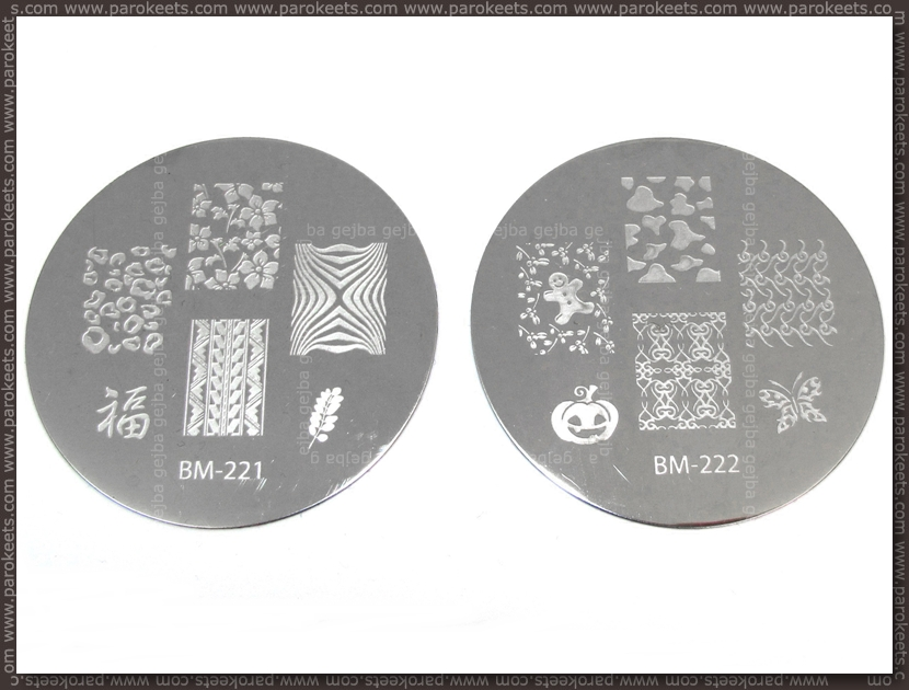 Bundle Monste Image Plate - 221, 222