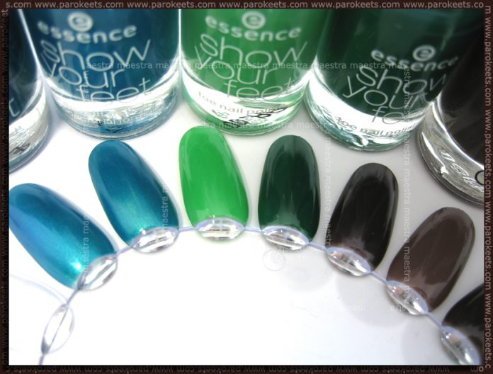 Essence Show Your Feet: Carribean Sea, In The Jungle, Catrice - From Dusk To Dawn