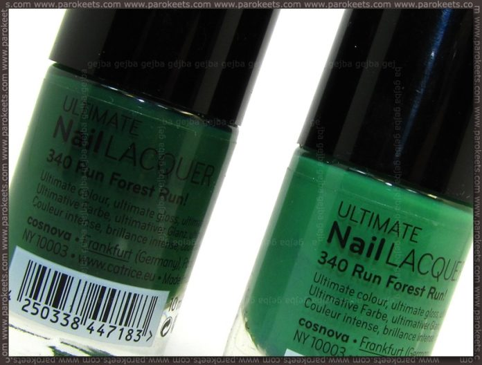 Catrice Run Forest Run old vs new comparison