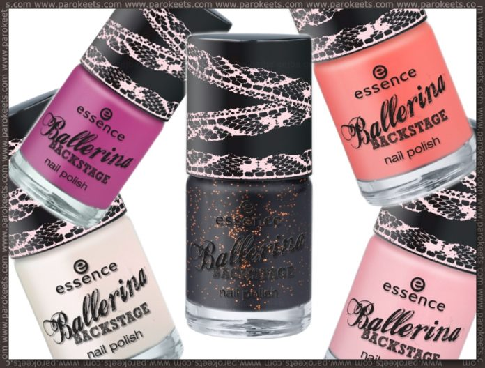 Essence Ballerina Backstage preview nail polishes by Parokeets
