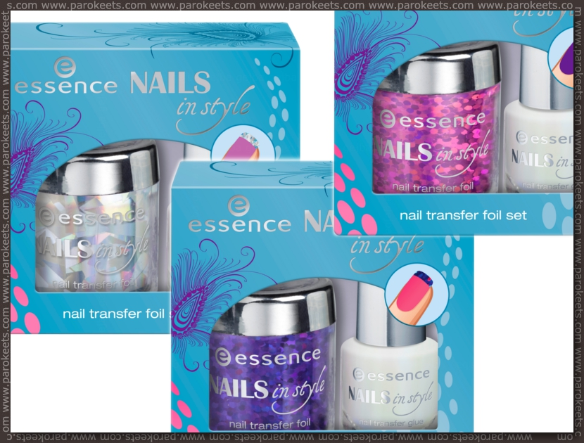 Essence Nails In Style TE preview nail transfer foil set