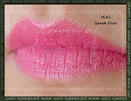 MAC Speed Dial swatch