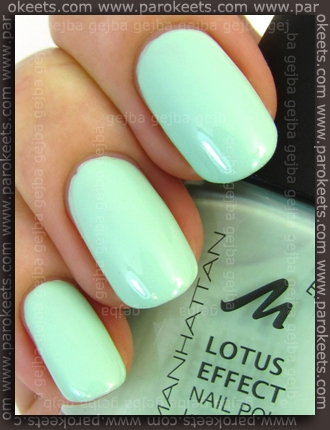 Manhattan Hands Up LE - Fresh-Excited! swatch by Parokeets