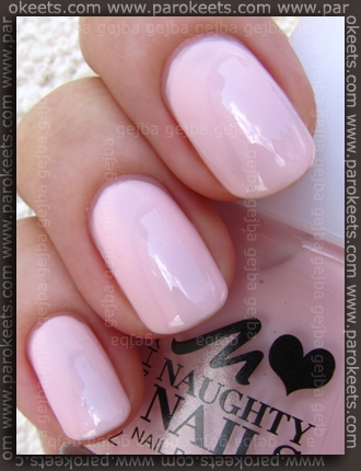 Manhattan Naughty Nails LE 51T swatch my Parokeets