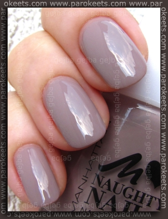 Manhattan Naughty Nails LE 61V swatch by Parokeets
