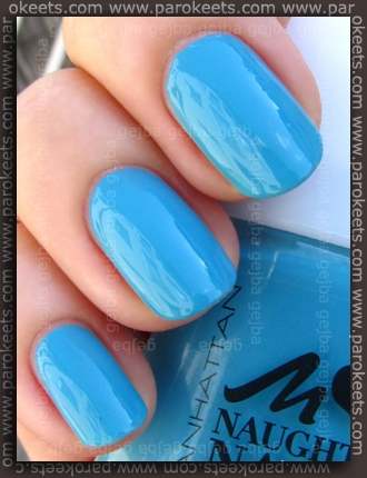 Manhattan Naughty Nails LE 78V swatch by Parokeets