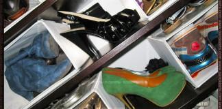 Maestra's shoe closet