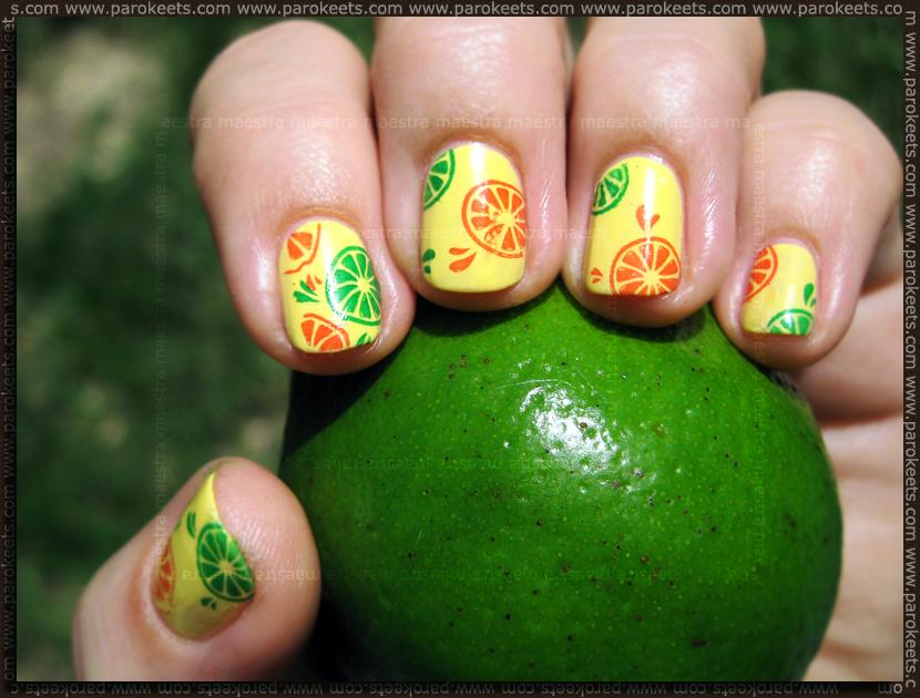 Manikura - pomaranče in limone