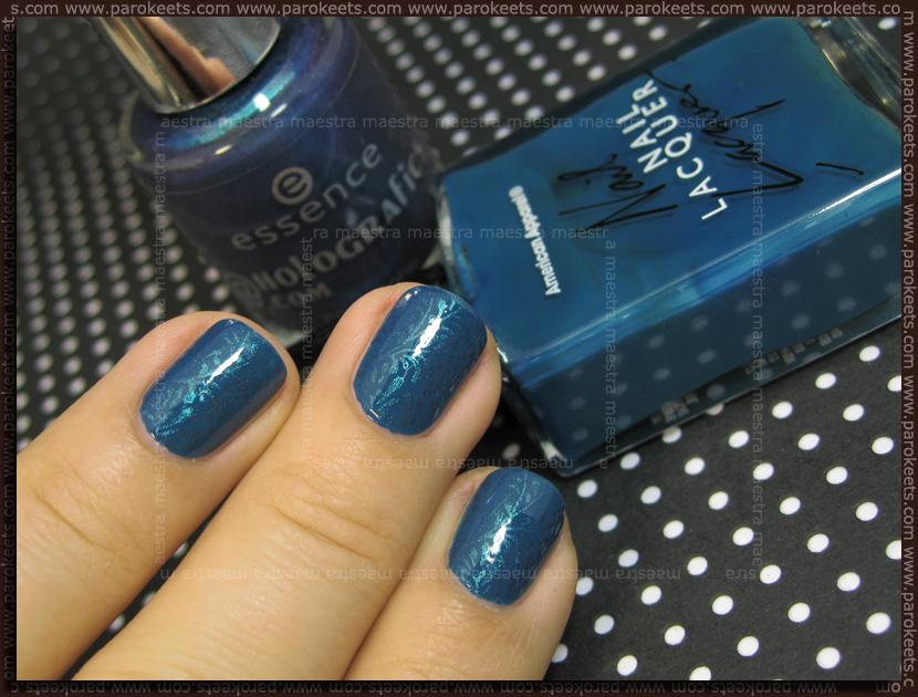KOTD: American Apparel - Peacock + Konad IP m83 with Essence - Blue Ray (@Holografics.com)