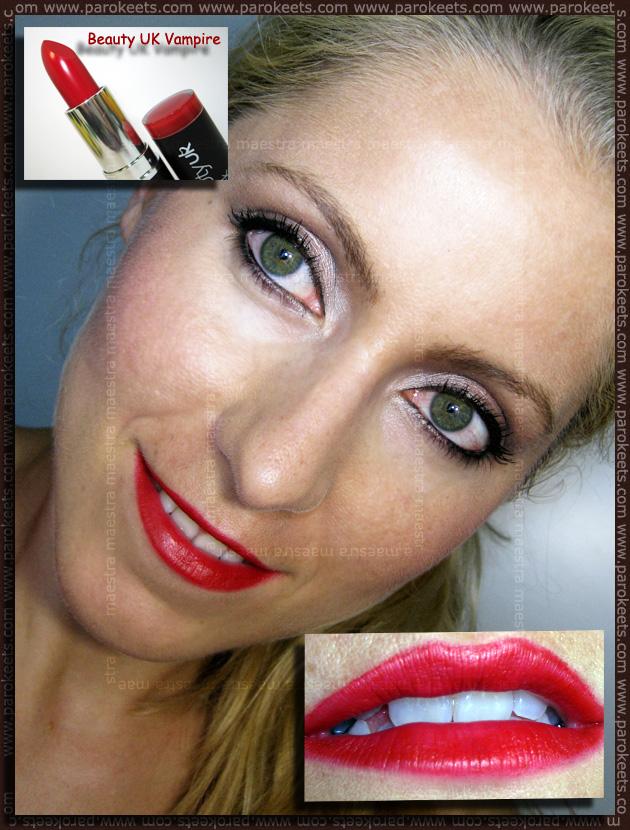 Swatch: Beauty UK: Vampire lipstick