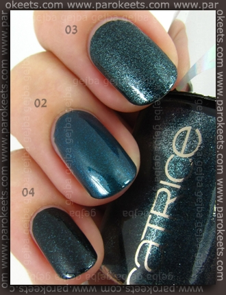 Comparison: Catrice Out Of Space LE - Moonlight Express, Houston's Favorite, Beam Me Scotty!