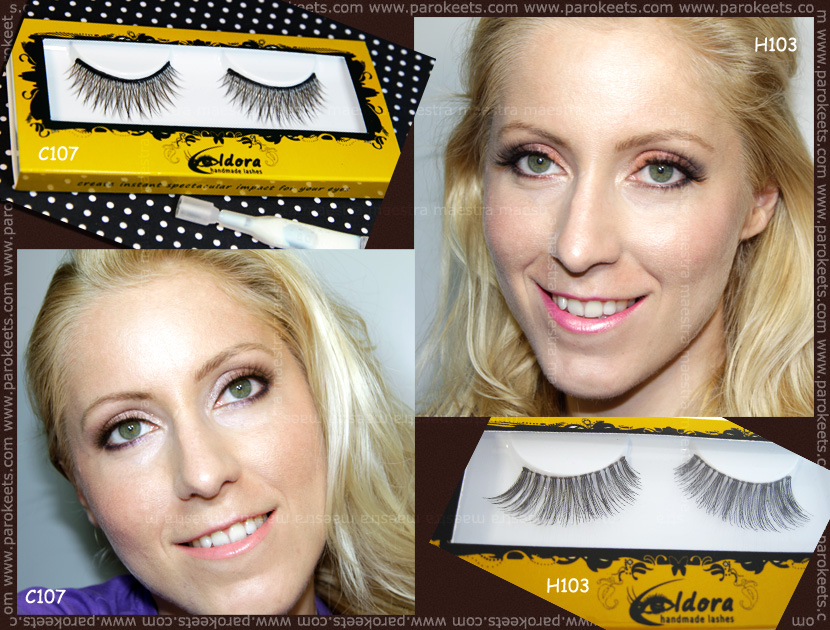 Make up and review: Eldora handmade eyelashes: C107, H103