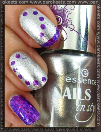 Essence Nails In Style TE - Style For Summer Nights + Style My Dream foil