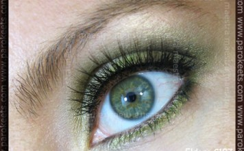 Green make-up look with Eldora C107 false eyelashes