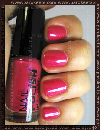 H&M Summer Nails nail polishes 2011 - Pink swatch by Parokeets