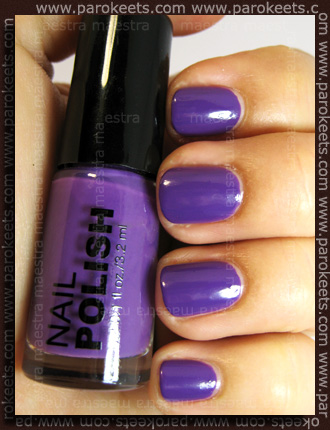 H&M Summer Nails nail polishes 2011 - Purple swatch by Parokeets