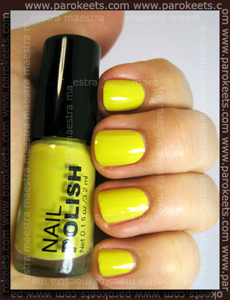 H&M Summer Nails nail polishes 2011 - Yellow swatch by Parokeets