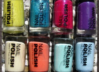 H&M Summer Nails nail polishe sets by Parokeets
