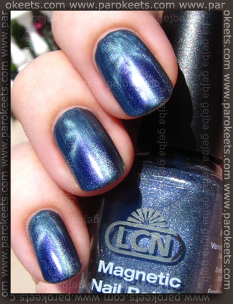 LCN Magnetic - Ferromagnetic Blue swatch by Parokeets