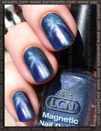LCN Magnetic - Ferromagnetic Blue swatch by Parokeets