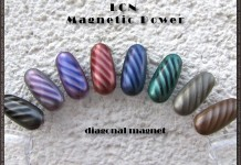 LCN Magnetic Power nail polishes - diagonal magnet design