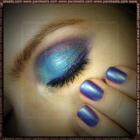 Typhoon Lagoon make up with Sleek - i-Divine Curacao palette
