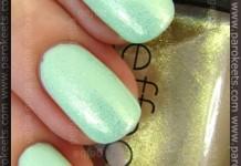Manhattan Fresh-Excited! + CND Jade Sparkle swatch by Parokeets