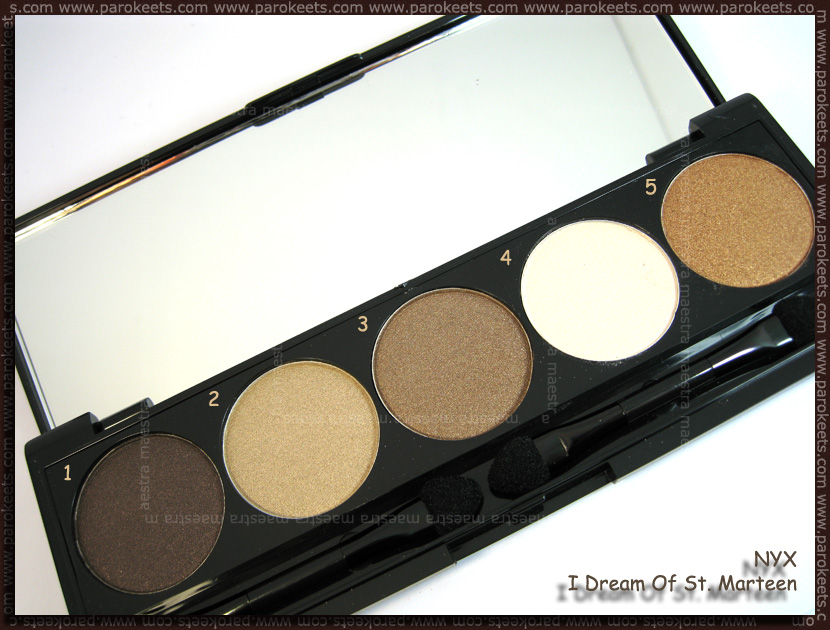NYX 5 Color Shadow The Caribbean Collection: 02 I Dream Of St. Marteen