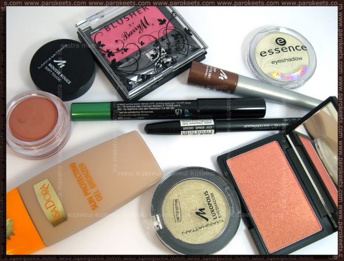 Products for Summer make up look