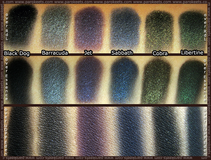 Swatch: Urban Decay - The Black Palette