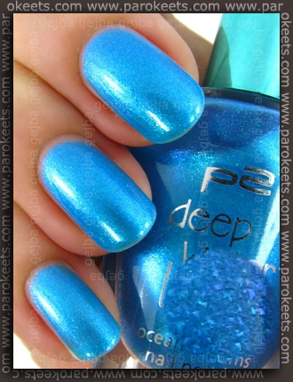 p2 Deep Water Love LE - Blue Horizon swatch by Parokeets