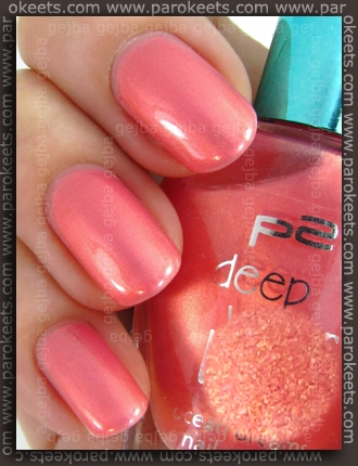 p2 Deep Water Love LE Rosy Coral swatch by Parokeets