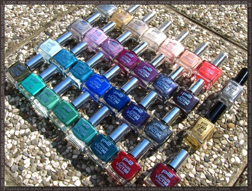 p2 nail polish collection by Parokeets
