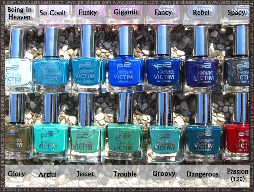 p2 nail polish stash by name