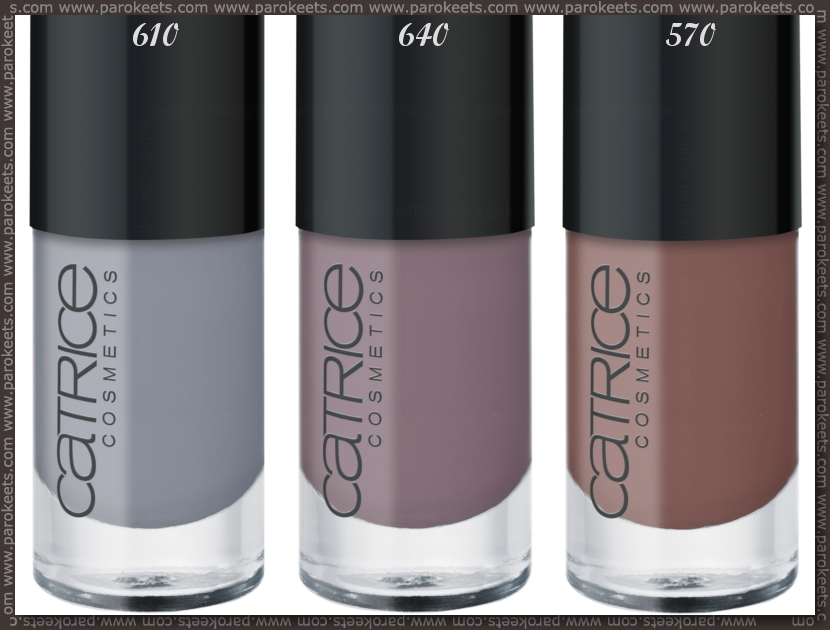 Catrice: Ultimate Nail Lacquer 570, 640, 610 promo