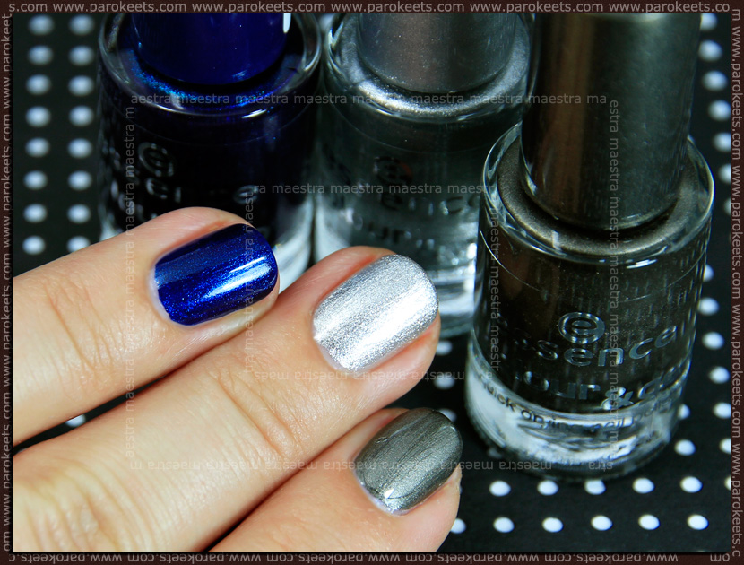 Swatch: Essence - I Love TE Colour&Go: 76 - Hard To Resist, 80 - Icy Princess, 83 - Luxury Secret
