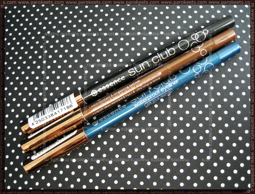 Essence - Sun Club Waterproof Eyeliners: Blue lagoon, Lake shore, Dark water