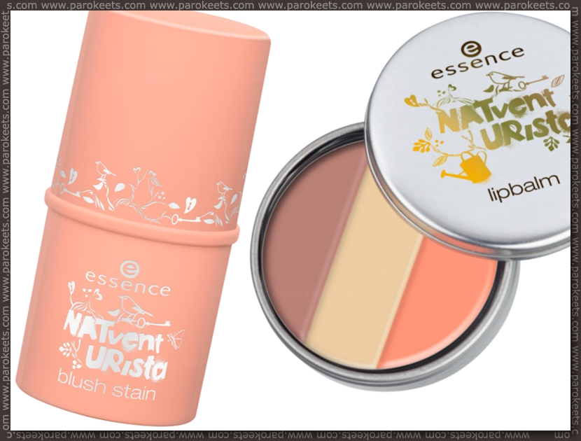 Preview: Essence Natventurista blush stain, lip balm by Parokeets