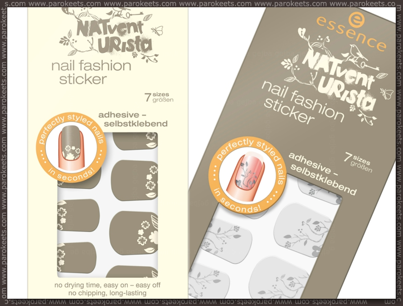 Preview: Essence Natventurista nail stickers by Parokeets